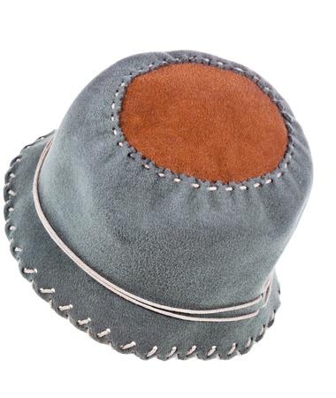 felt soft cloche hat isolated on white background Stock Photo - 19419244