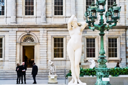 custodian: NEW YORK CITY - FEBRUARY 4: In the Metropolitan Museum of Arts on February 04, 2010 in New York. The Charles Engelhard Court in American Wing is the American period building inside the museum. Editorial