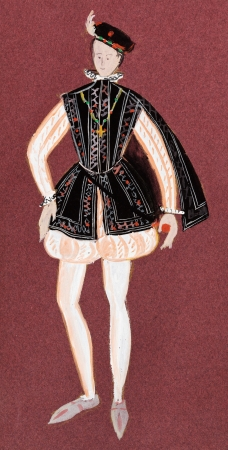 nobleman: historical costume - suit the young king of France mid-16th century