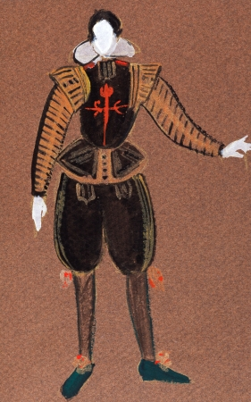 nobleman: historical costume - Dress Spanish court grandee late 16th century