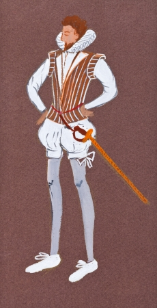 nobleman: historical costume - Suit English aristocrat of the early 17th century