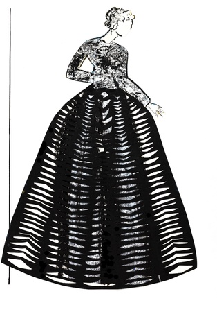bouffant: fashion of 20th Century - bouffant net skirt from 30th years
