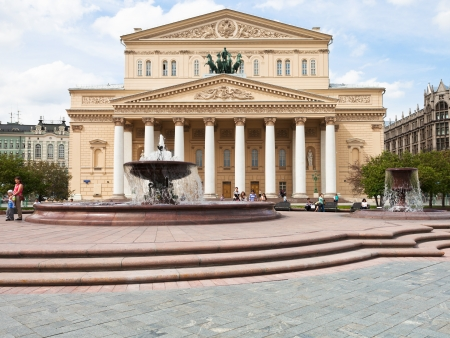 bove: MOSCOW, RUSSIA - MAY 25: Theater square and Bolshoi Theatre in Moscow, Russia on May 25, 2013. The square was designed in neoclassical style by Joseph Bove 1820s years