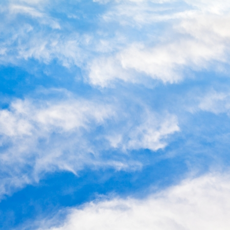 cloudscape with stratus clouds in blue sky in March, France Stock Photo - 20182162