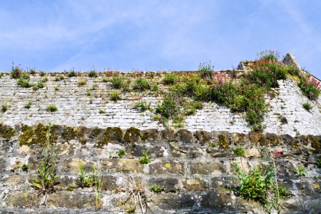 rampart: Medieval and antique Roman rampart in Boulogne-sur-Mer, France Stock Photo