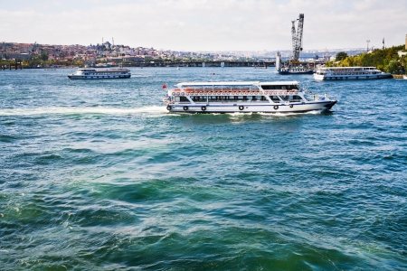bosporus: Cruise ships in Bosphorus, Istanbul, Turkey