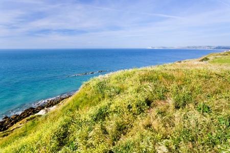 manche: La Manche cote d opale coastline in Normandy, France Stock Photo