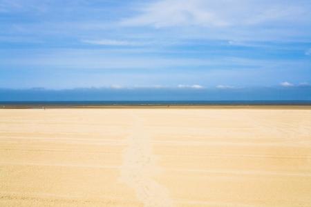 calais: wide flat sandy beach le touquet in Normandy, France Stock Photo