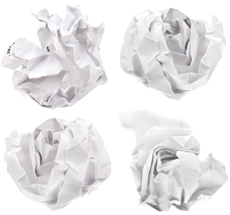 ball of paper isolated on white background photo