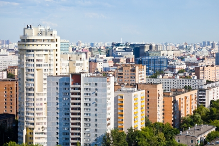 view of residential area in Moscow city photo