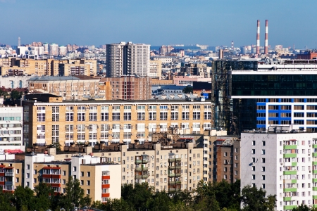 residential districts in Moscow city photo