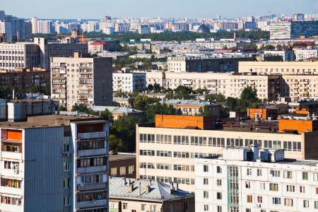 urban residential quarters in Moscow in summer afternoon photo