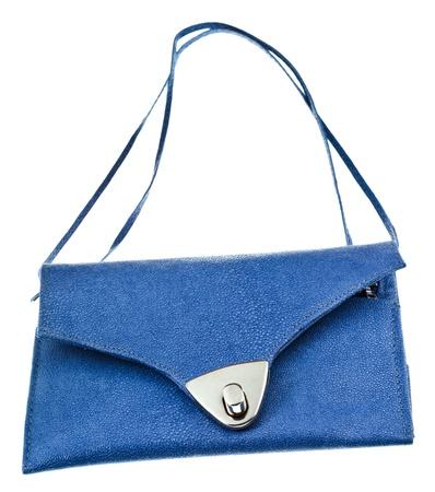 pochette: small flat lady handbag isolated on white background