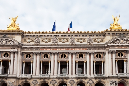palais garnier: PARIS, FRANCE - MARCH 5: Facade Palais Garnier in Paris on March 5, 2013. The Palais Garnier is 1979-seat opera house, which was built from 1861 to 1875 for the Paris Opera. Editorial