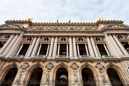 palais garnier: PARIS, FRANCE - MARCH 5: Facade Palais Garnier in Paris on March 5, 2013. The Garnier Palace is 1979-seat opera house, which was built from 1861 to 1875 for the Paris Opera.