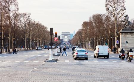 champs elysees: PARIS, FRANCE - MARCH 5: Avenues des Champs Elysees. The Champs-Elysees forms part of the Axe historique in Paris, France on March 5, 2013