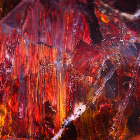 labradorite: background from brown labradorite mineral close up Stock Photo