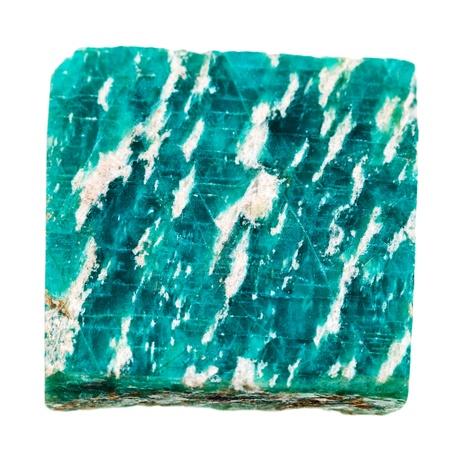 amazonite: Amazonite mineral stone isolated on white background Stock Photo