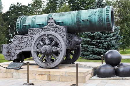 bombard: largest Tsar Cannon in Moscow Kremlin, Russia