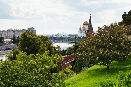 view of Moscow from Kremlin in summer day photo