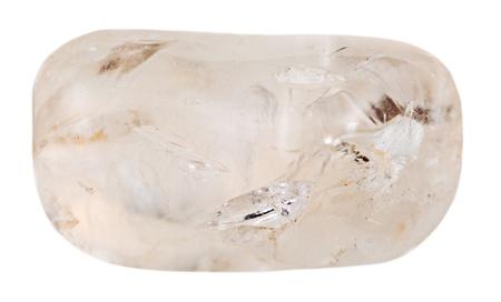 silica: silice ghiaia minerale isolato su sfondo bianco