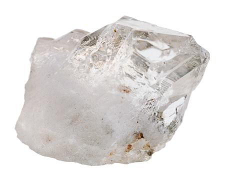 ロック クリスタル ミネラル石白い背景で隔離