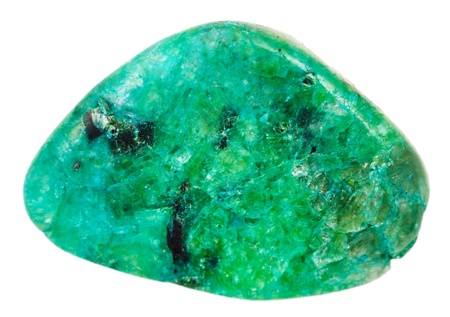 Chrysocolla mineral isolated on white background Banque d'images