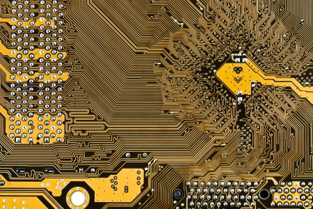 motherboard circuit board background close up photo