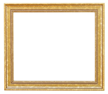 Wide Gilded Picture Frame With Cutout Canvas Isolated On White ...