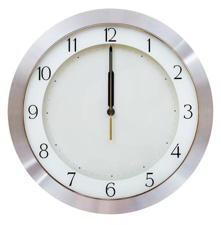 でも深夜 - 12 o クロック壁掛け時計ラウンド ダイヤル 写真素材