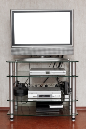 TV set with cut out screen at home photo
