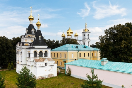 view of churches and buildings of Dmitrov Kremlin, Russia photo