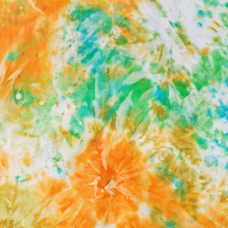 nodular: abstract floral decor of nodular painted batik on silk Stock Photo