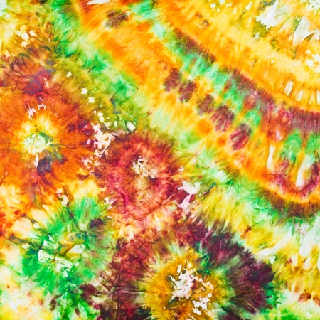 abstract floral pattern on silk in nodular batik technique photo