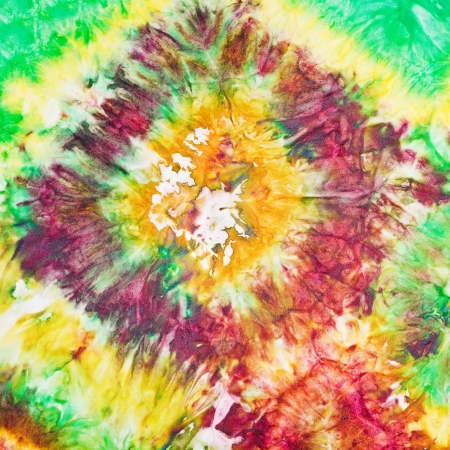 abstract floral decor of nodular painted batik photo