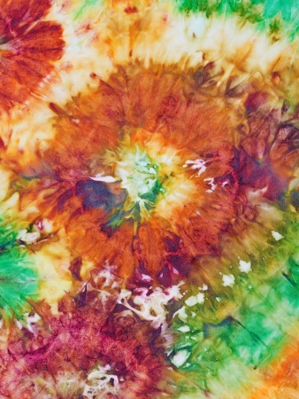 abstract floral pattern of nodular painted batik photo