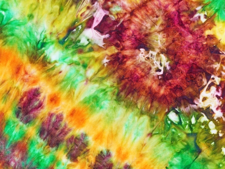 abstract floral ornament of nodular painted batik photo