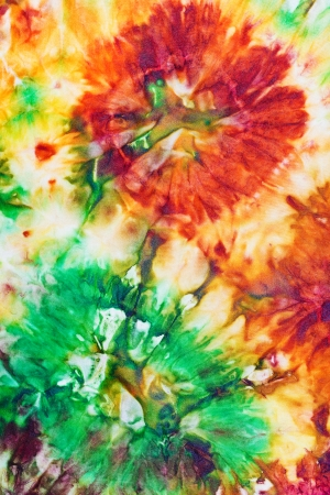 abstract flower ornament of nodular painted batik photo