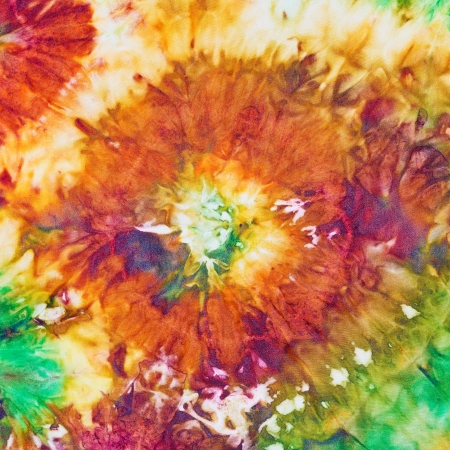 abstract flower pattern of nodular painted batik photo