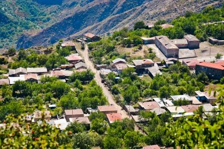 country village Halidzor in caucasus mountains in Armenia photo