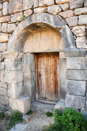 tatev: closed doors in church in Tatev Monastery in Armenia Stock Photo