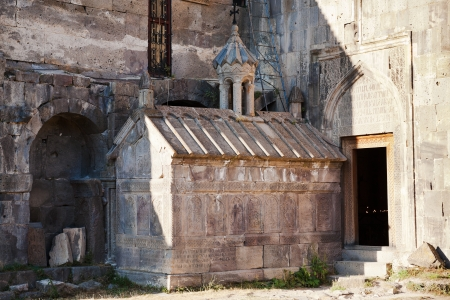 Saint grigor tatevatsi mausoleum - funeral chapel in Tatev Monastery in Armenia photo