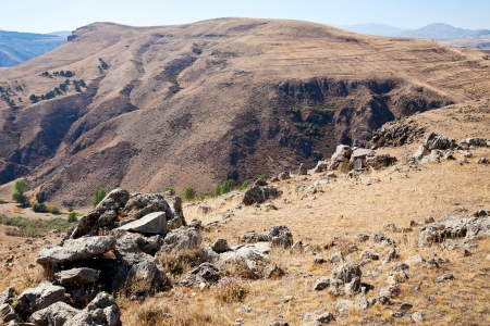 lith: Zorats Karer (Carahunge) - pre-history megalithic monument in Armenian mountains