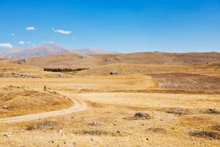 mountail plateau landscape near Sisian town in Armenia in autumn day photo
