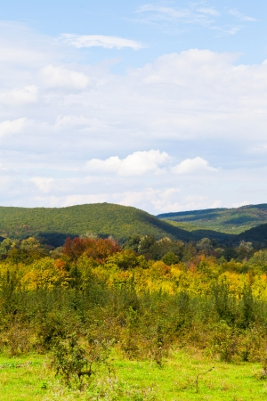 anomalous: view of caucasian mountains in Shapsugskaya anomalous area in early autumn day