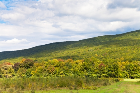 anomalous: foot of caucasian mountains in Shapsugskaya anomalous area in early autumn day