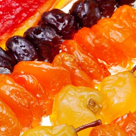 armenian sugared sweet fruits close up 版權商用圖片