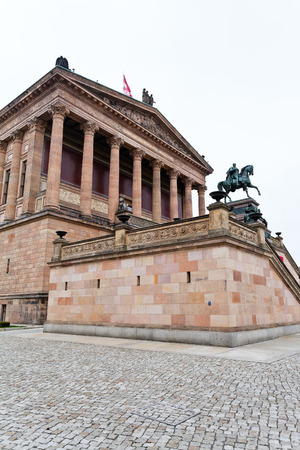 alte: BERLIN, GERMANY - OCTOBER 16: facade of Alte Nationalgalerie (Old National Gallery) in Berlin, Germany on October 16, 2013. The Gallery opening took place on March 22, 1876.