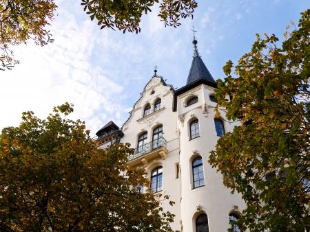 property berlin: urban villa of the 19th century on Fasanenstrasse in Berlin in autumn