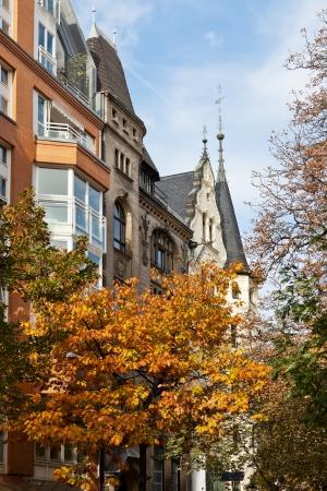 property berlin: autumn scenery of western Berlin street Fasanenstrasse Stock Photo